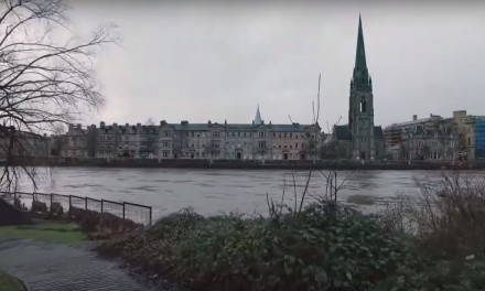 Perth, Scotland and the River Tay after the Storms
