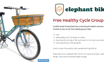 Free Guided Health Cycle Rides by Giraffe Social Enterprises